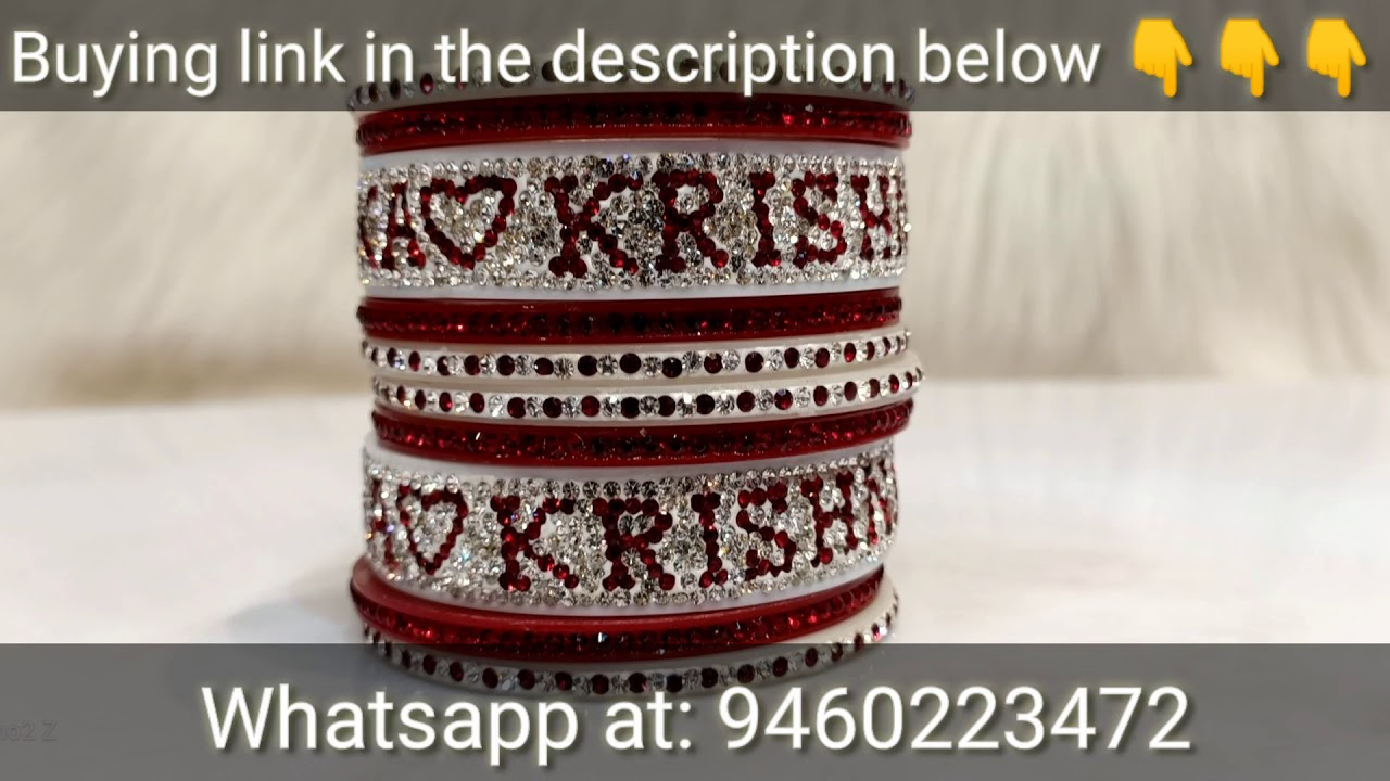 Best name and photo bangle design of year 2020 - YouTube