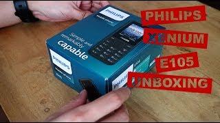 Philips Xenium E105 Unboxing
