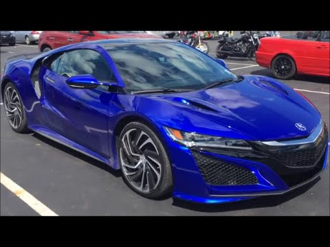 2017 Acura NSX Test Car in Blue Pearl