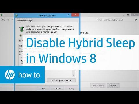 Disabling Hybrid Sleep - Windows 8 | HP Computers | HP