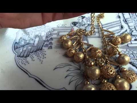 Jewelry Collectibles. Flea Market Garage Yard Estate Sale Finds Pick-Ups - 6/27/15