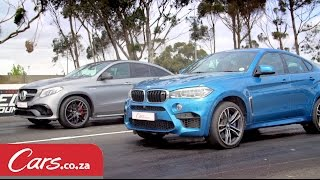 Drag Race: BMW X6 M vs Mercedes-AMG GLE63 S Coupe(When it comes to tarmac devouring mammoth SUVs, two manufacturers reign supreme. BMW and Mercedes-Benz. There are a few other models on the ..., 2015-10-29T08:24:31.000Z)