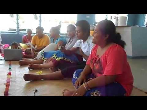 "Tuvalu Singing_ AOG Youth composing Tuvalu version of ""Taleni"""