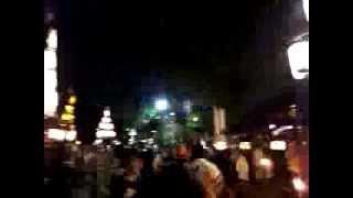 2012年7月15日、四日市市富洲原地区の松原の石取り祭り。本練り。