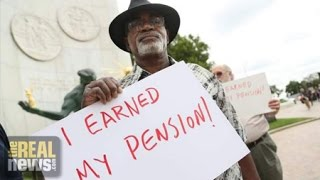 Pensions of Union Workers Cut in Federal Budget