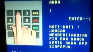 Setor Tunai di Cash Dedosit Machine CDM Bank Mandiri