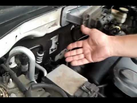 An easier way to remove and install the alternator on a V6 ford
