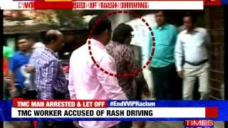 TMC worker accused of rash driving