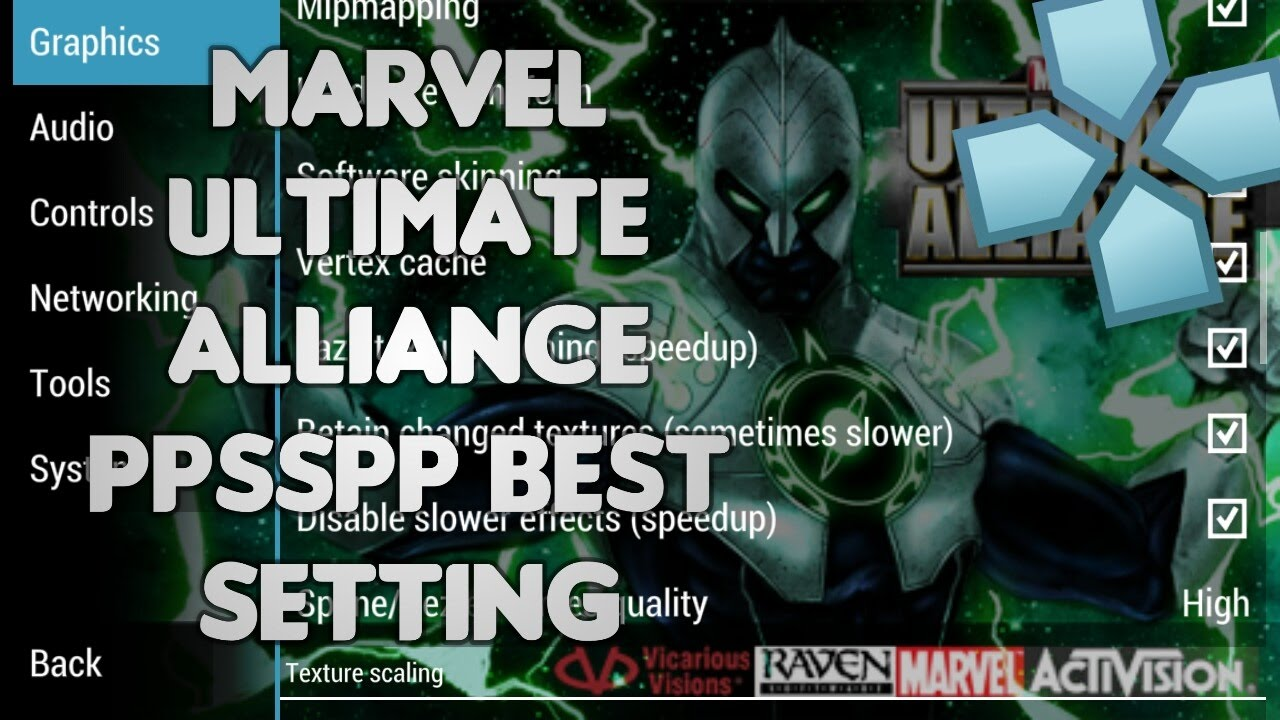 Marvel Ultimate Alliance PPSSPP Best Settings Android by Asif Shaikh