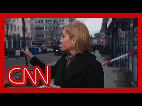 CNN Goes To Scene Of Shooting In Hanau, Germany
