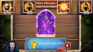 12 Smashes Demogorgon 22k Gems For Medusa or Skull Knight Castle Clash