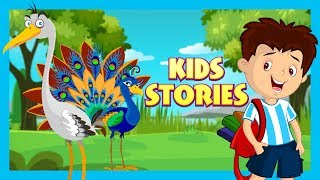 KIDS HUT STORIES - The Peacock and Crane & The Horse and Snail || ANIMATED STORIES
