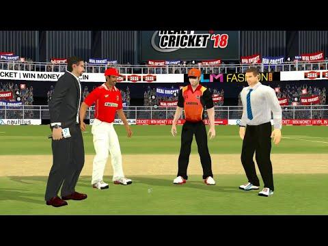 26th April IPL 11 Sunrisers Hyderabad Vs Kings XI Punjab  Real cricket 2018 Gameplay