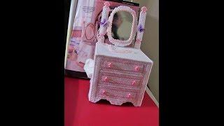 DIY Plastic Canvas Dresser