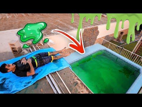 اكبر مسبح سلايم بالعالم | تجربه غير متوقعه !! فلوق #72