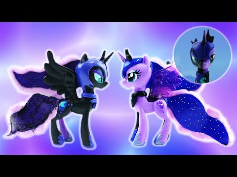 Princess Luna and Nightmare Moon Transformation Split My Little Pony Custom