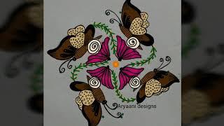 Rangoli designs...butterflies...simple N easy...8 to 2 dots