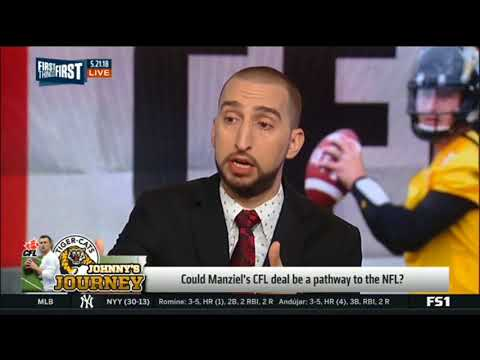 Cris Carter and Nick Wright reacts to Johnny Manziel returns to football