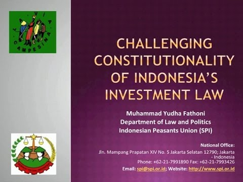 Challenging the Constitutionality of Indonesian Investment Law