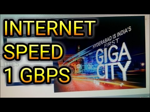 Hyderabad is India's First GIGA CITY _ ACT GIGA _ Internet Speed 1 GBPS