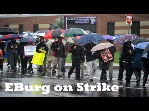Teachers in East Stroudsburg Area School District on Strike