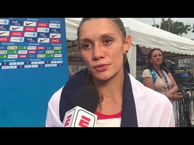 Andrea Vargas consiguió el primer oro de Costa Rica en Barranquilla 2018