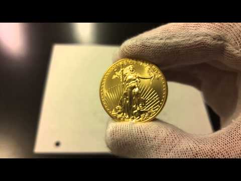 2012 American Gold 1 Oz Eagle Coin 4k Video UHD