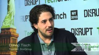 Backstage With David Tisch | Disrupt NY 2013