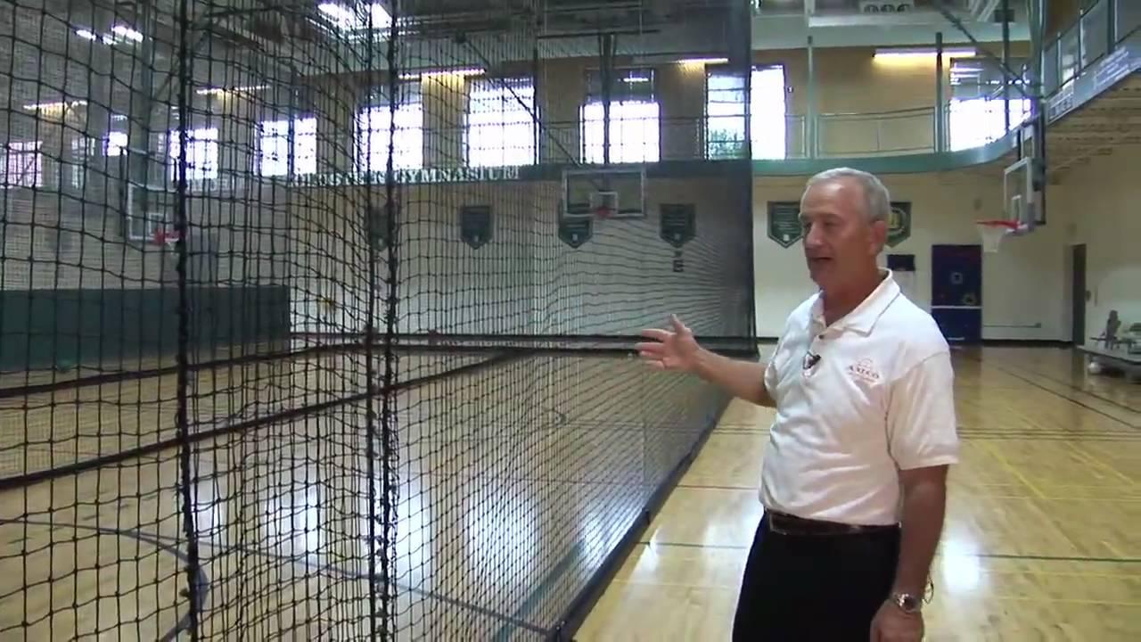 Grand Slam Indoor Retractable Batting Cage By Aalco Athletics