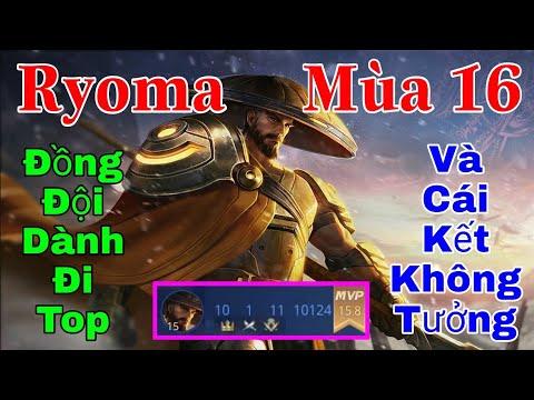 Ryoma Mùa 16 đi SP khi bị Amily dành lane TOP & cái kết Cách chơi lên đồ trang bị bảng ngọc phù hiệu