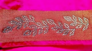 saree stone work tutorial for border design
