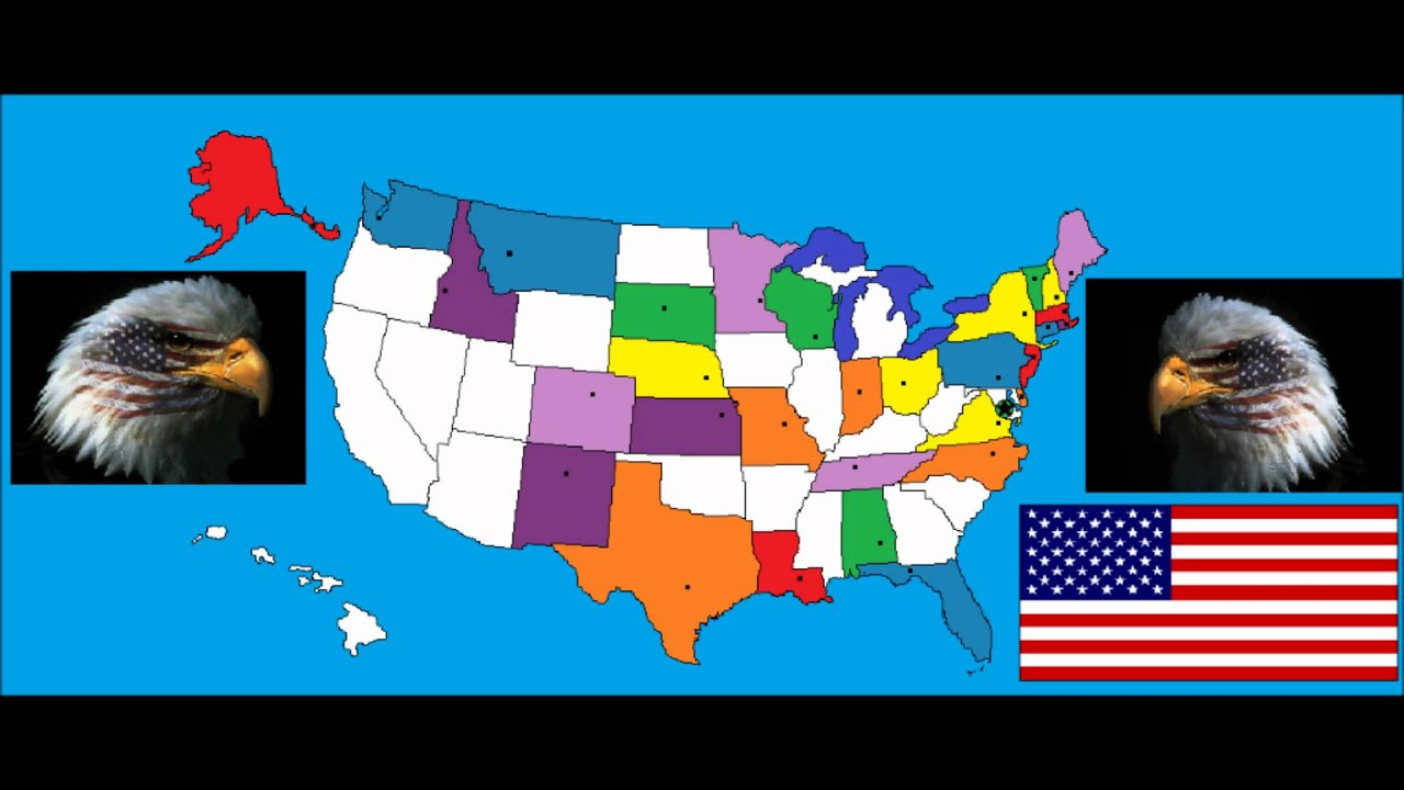 50 States And Capitals By Animaniacs Wakkos America