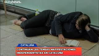 Manifestaciones independetistas en Cataluña