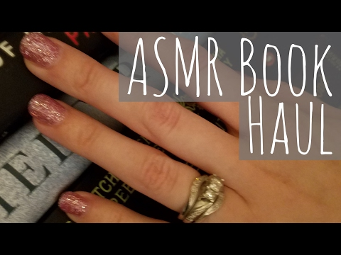 ASMR Book Haul (tapping, page flipping, reading to you) 📚