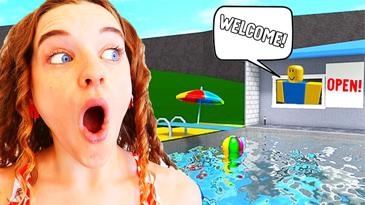 WE OPENED A PUBLIC SWIMMING POOL in Bloxburg Roblox Gaming w/ The Norris Nuts