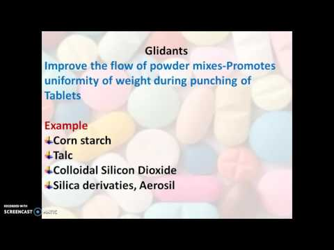 Tablet excipients by RVT - YouTube