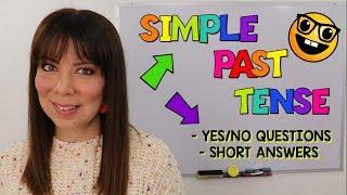 Preguntas En Pasado Simple En Ingles Con Respuesta Afirmativa Y Negativa Simple Past Tense Grammar Youtube