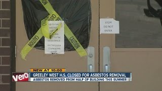 Greeley West High School closed for asbestos removal