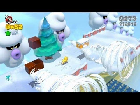 Super Mario 3D World 100% Walkthrough Part 14 - World 6 (6-B, 6-4, 6-5, 6-6) Green Stars & Stamps
