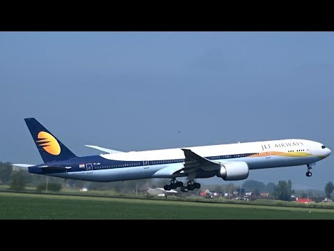 Jet Airways - Boeing 777-300 ER - Takeoff at AMS (VT-JEX)