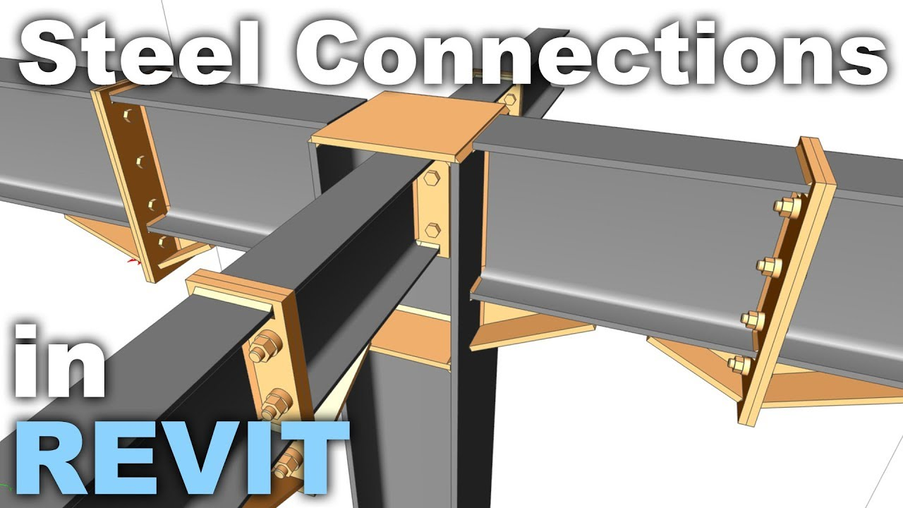 Steel Structures And Connections In Revit Tutorial Youtube