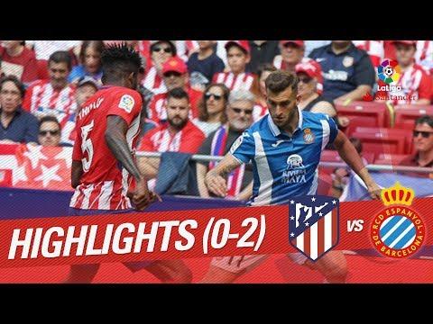 Resumen de Atlético de Madrid vs RCD Espanyol (0-2)