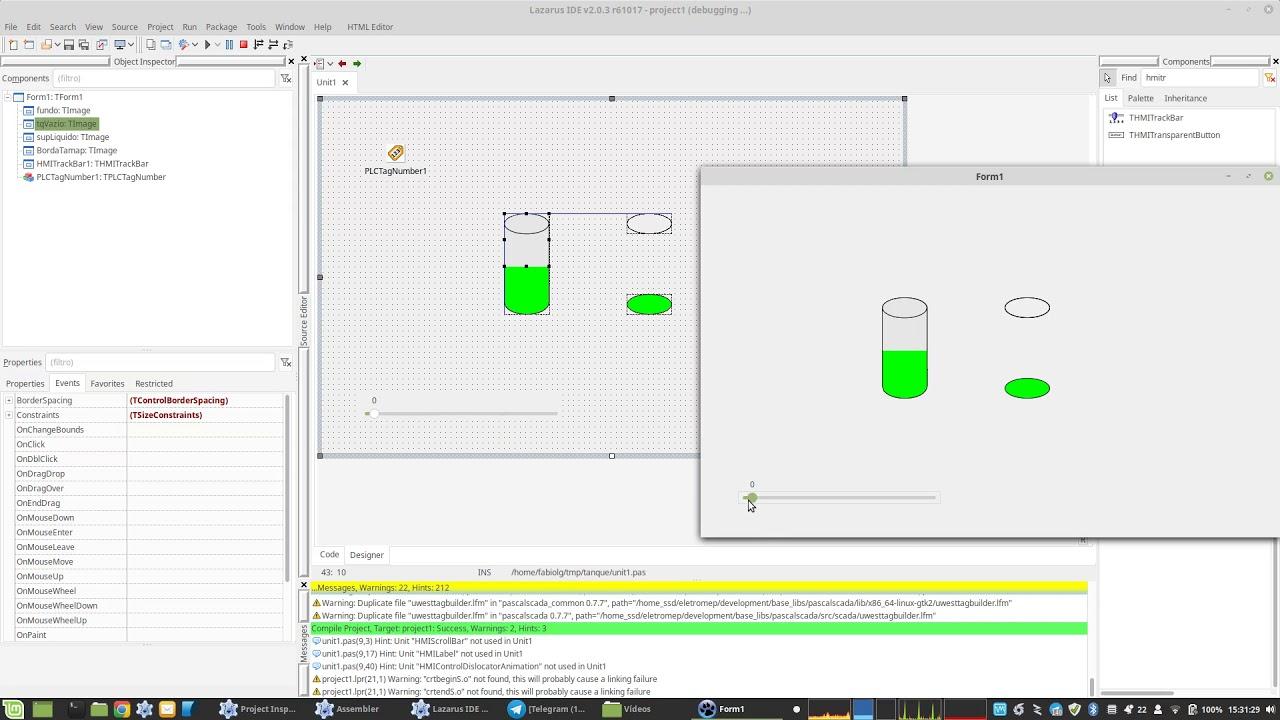 How build a tank level animation on PascalSCADA – PascalSCADA