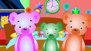 Ten in The Bed - Full Nursery Rhyme With Lyrics - Animation Song for Children