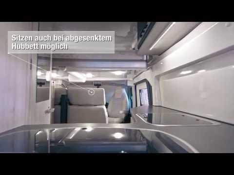 Karmann-Mobil: Das elektrische Hubbett im Dexter 550