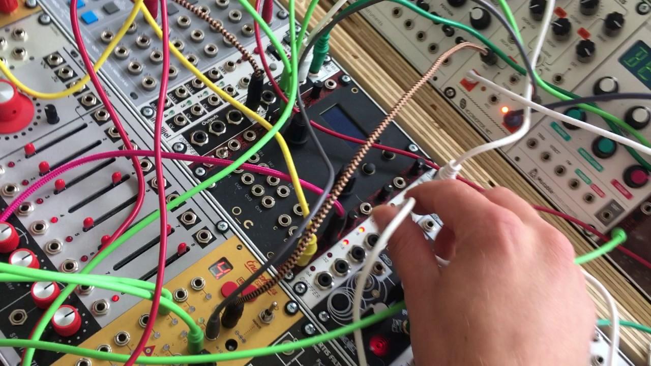 feeding gates from a modular into a raspberry pi for a monome sequencer
