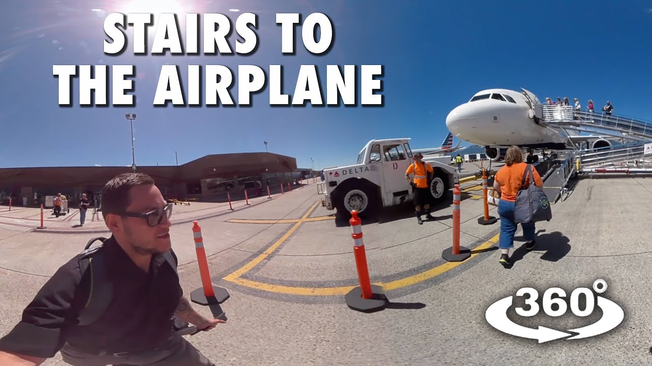 STAIRS TO THE AIRPLANE! 360° 4K