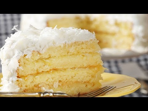 Coconut Cake Recipe Demonstration Joyofbaking Com Youtube