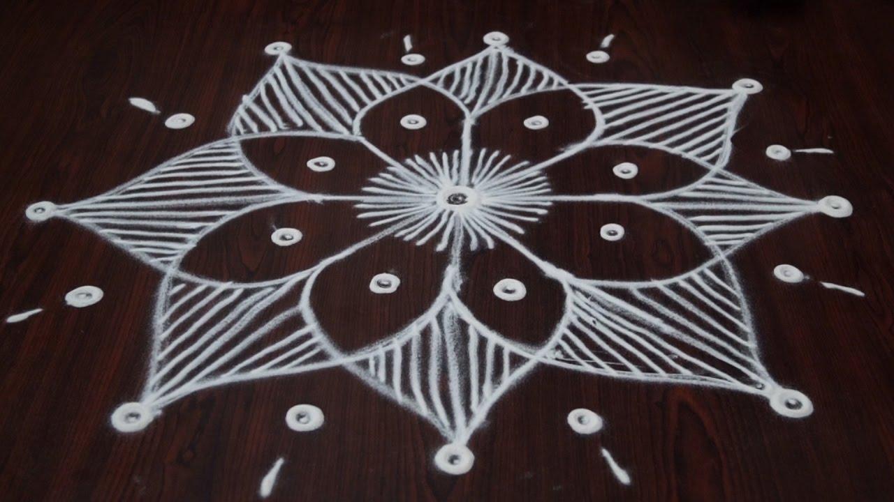 Simple muggulu designs without dots simple rangoli Designs com