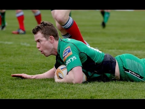 Magnificent Matt Healy Try from fluid backline move - Connacht v Munster 19th April 2014